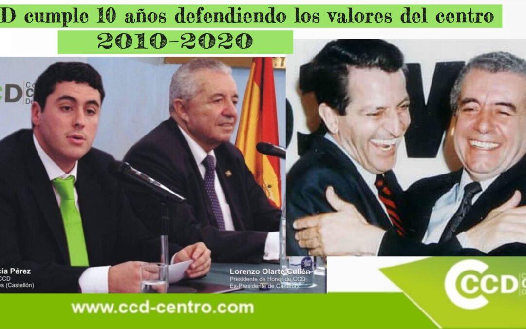 Coalición de Centro Democrático cumple 10 años