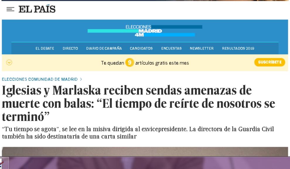 CCD rechaza las amenazas de muerte a Iglesias y Marlaska